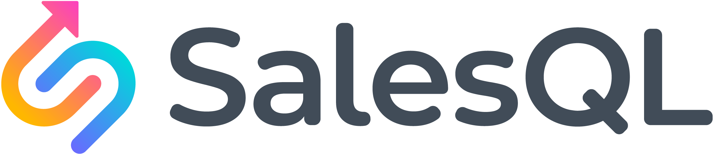 SalesQL logo color white bg