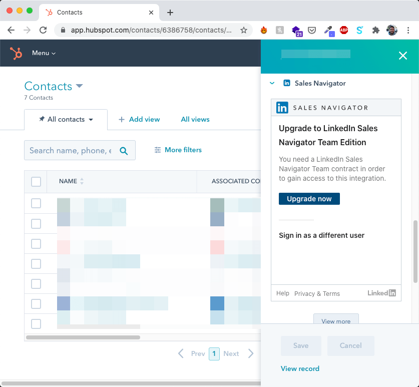 LinkedIn to Hubspot Upgrade to Integrate