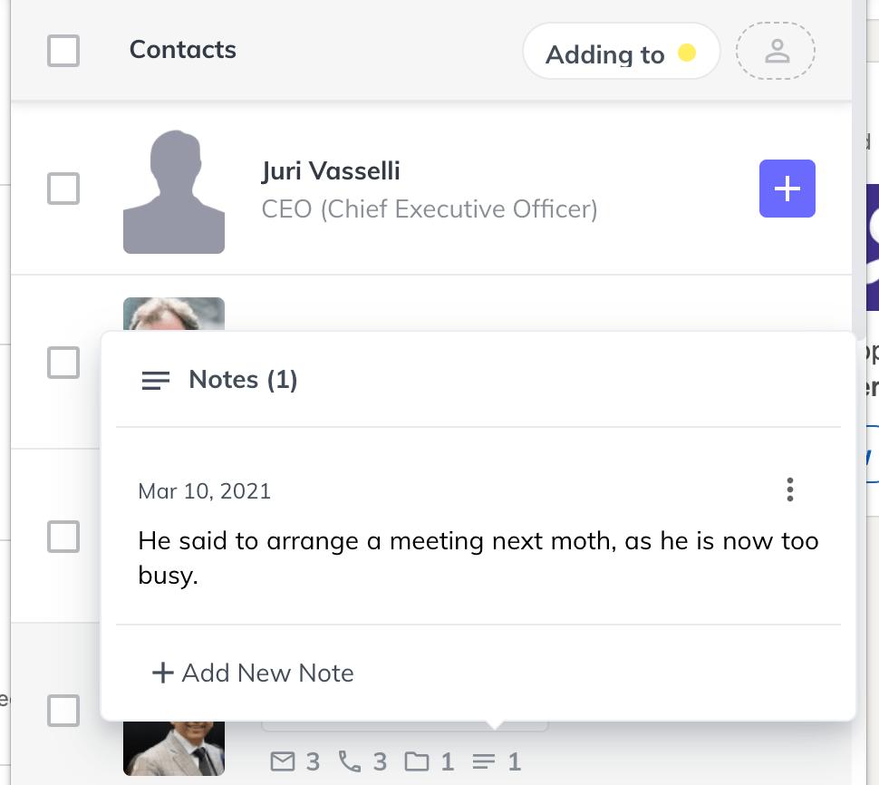 extension contact metadata