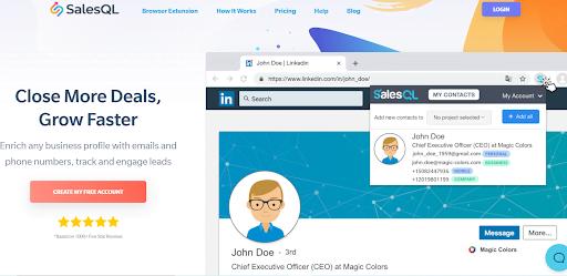 SalesQL Homepage